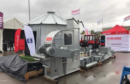 "Grain drying equipment at the exhibition ""Sprendimų ratas 2017"" (""Circle of decisions 2017 "")"