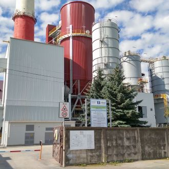 Construction of a flue-gas desulphurization unit in Estonia