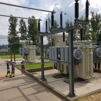 Reconstruction works of 110/10 kV transformer substation Aerouostas