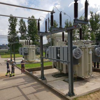 110/10 kV Aerouosto transformatorių pastotės rekonstravimo darbai