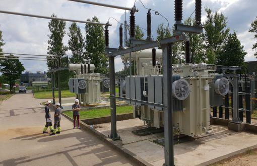 Baigti 110/10 kV Aerouosto transformatorių pastotės rekonstravimo darbai