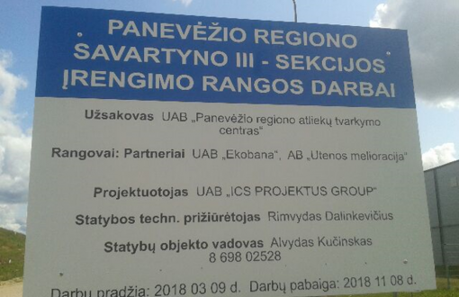 Panevėžio regiono savartyno III - sekcijos įrengimo rangos darbai