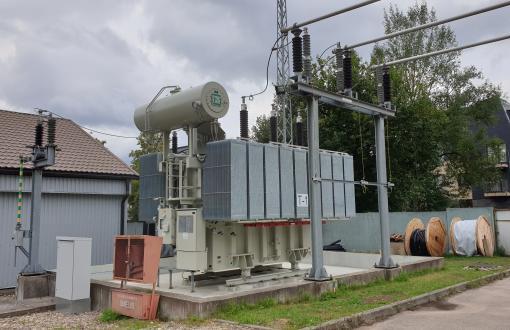 Реконструкция трансформаторной подстанции 110/10 кВ Žvėryno