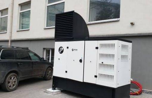 Dyzelinio generatoriaus su ARĮ spinta įrengimas