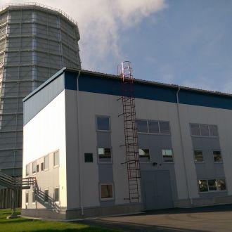 27 MW turbogeneratoriaus su aušinimo sistema statyba