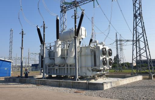UAB Ekobana has installed the most powerful autotransformers in Lithuania for the electricity transmission network (LITGRID AB)