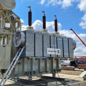 Galios transformatorių pristatymas vėjo jėgainių parkams